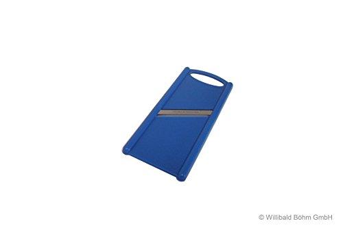 Gurkenhobel mit Solinger Klinge, beidseitig schneidend, rostfreier Edelstahl, pastell-blau, Sonja-PLASTIC - Made in Germany