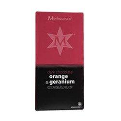 by Montezumas Chocolate Montezumas Chocolate Org Dark Orange & Geranium Bar 100G