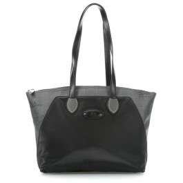 LA MARTINA (Lady) Borsa Shopping Donna Tessuto Cerato Stampa Logo Nero 268.005