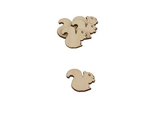 Kreativknoten 20 Teile Streudeko/mit eingravierten Details perfekt zum Schmücken und Basteln/Motiv Eichhörnchen (20)