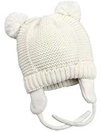 Tukistore Unisex Bebé Sombrero de Orejeras Calentar Color Puro Sombrero de  Invierno Gorro de Lana Orejas 3c9b1951ff74