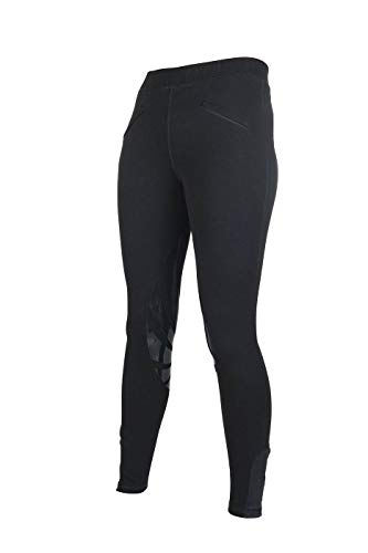 HKM Erwachsene Reitleggings-Noelle-Silikon-Kniebesatz9100 schwarz40/42 Hose, 9100 schwarz, 40/42 -