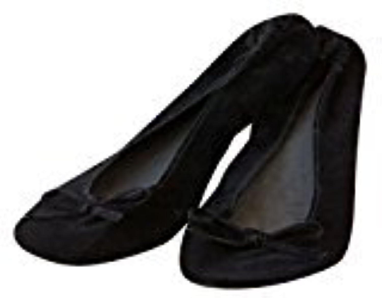 LOTE DE 10 BAILARINAS- MANOLETINAS- FRANCESITAS de terciopelo negro con bolsa talla M