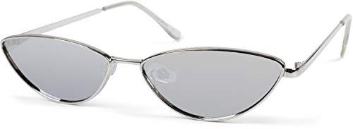 styleBREAKER Occhiali da sole da donna stile Cat Eye con montatura sottile metallo lenti policarbonato look retro forma occhio di gatto 09020097