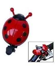 Lsv-8Cute Ladybug avec sonnette de vélo enfant Nouveau Vélo Bell Coccinelle Coccinelle Alarme Guidon de vélo en métal Corne