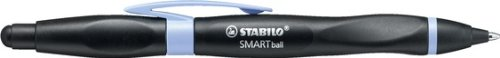 STABILO SMARTball links schwarz/lila Schreibfarbe blau - ergonomischer Kugelschreiber mit...