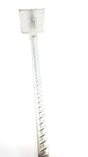 Gartenwelt Riegelsberger Premium T-Pfostenträger aus Stahl verzinkt, Riffeldolle Ø30mm, ohne Dorn, höhenverstellbar zum Einbetonieren für Pfosten 11-14 cm