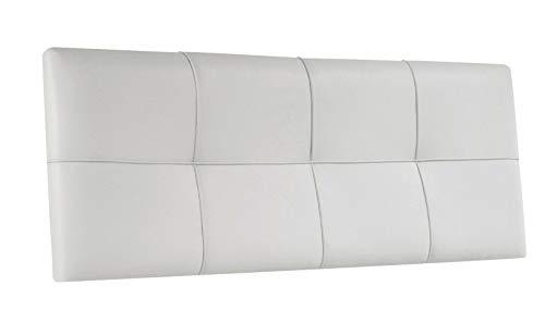 SUENOSZZZ - Cabecero de Camas 135 Cabeceros Tapizado Squa Piel Sintetica Color Blanco