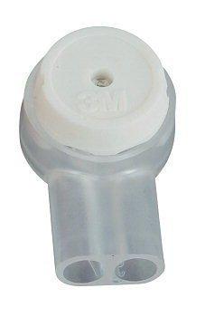 Preisvergleich Produktbild 3M Scotchlok Einzeladerverbinder UY2-D, VPE 100 St Ohne Fettfüllung, weiß, VPE 100 Stück (Karton). Ungefüllter Verbinder für 2 Adern, max. Außendurchmesser: 2,08 mm, Aderndurchmesser: 0,4 - 0,9 mm