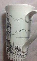 222 Fifth Dreamy London Tall Latte Fine China Mug by 222 Fith 222 Fifth China