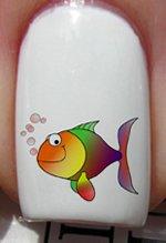 Arc en ciel poisson - Stickers pour ongles YRNAILS