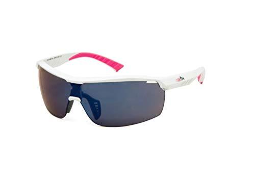 R/H 0rh874z 12, Damen Sonnenbrille, Shiny Weiß/Pink Mirror Blau, Einheitsgröße