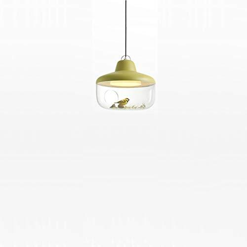 Kinderzimmer-kronleuchter Schattierungen (Einzigen Kopf Glas kronleuchter Schlafzimmer Studie Beleuchtung hängen kinderzimmer Dekoration kronleuchter 45 * 36 cm rot LJJOZ (Color : Yellow))