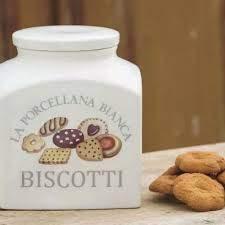 La porcellana bianca biscottiera collezione conserva
