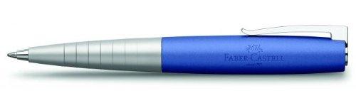 Faber-Castell 149301 – Bolígrafo Loom Metallic con cuerpo lacado metálico con forma cónica ergonómica, color azul