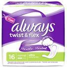 Auch ohne Flügel erhältlich: Always Ultra Twist & Flex Normal Binde