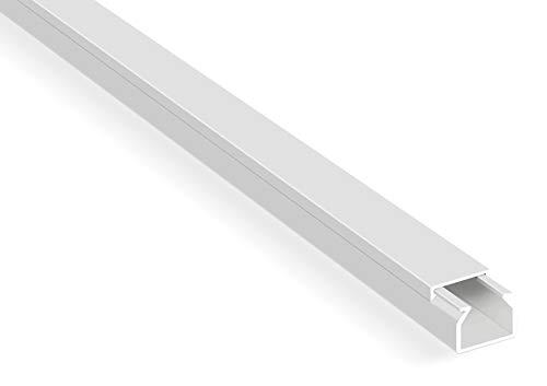 10m Kabelkanäle Selbstklebender Kabelkanal Weiß mit Schaumklebeband fertig für die Montage Kabelabdeckung (1,5 x 1 x 100 cm / 10 x 1m)