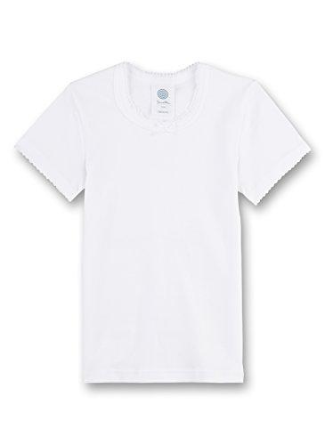 Sanetta Mädchen T-Shirt 1/2 Unterhemd, Weiß (White), 140