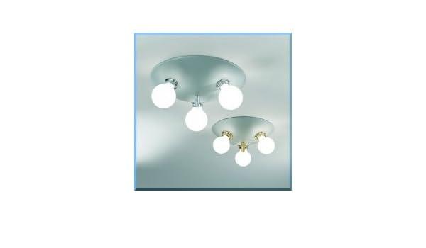 Plafoniera Con Lampada A Vista : Plafoniera con lampade a vista ol ottone lucido amazon