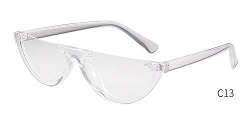 KONGYUER Sonnenbrillen, Brillen,Sonnenbrille Frauen Designer Retro Vintage Linse Cat Eye Frame Sonnenbrille Mädchen Transparent