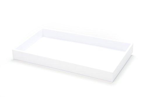 Preisvergleich Produktbild SE jt9115 W 3, 8 cm Juwelier 's ABS Display Tablett,  weiß