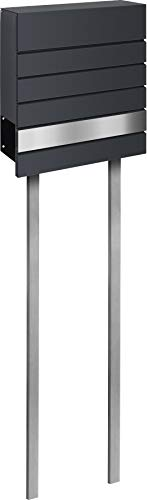 frabox Design Briefkasten Siders mit Standrohren, Stand zum Einbetonieren