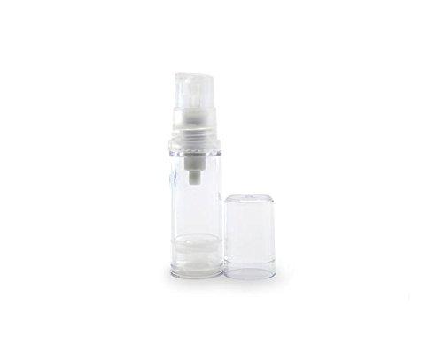 3 Stück / 5 Stück / 10 Stück 10ML / 0.33OZ leere transparente nachfüllbare Airless Vakuumpumpe Vial Flasche Container Halter Fall Jar Pot für Lotion ätherisches Öl Duschgel Shampoo (10 Stück) -