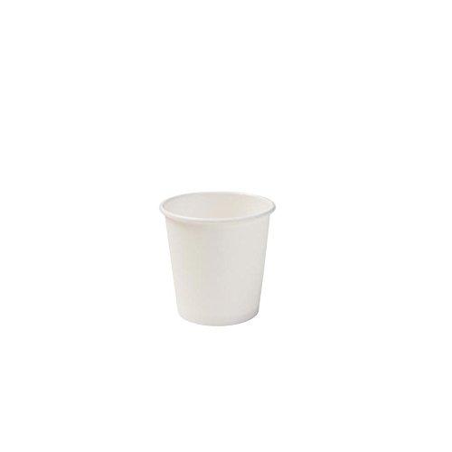 BIOZOYG Vaso de café Espresso orgánica desechable I Vaso de Beber desechable, Vaso Biodegradable, compostable I Bio Vaso desechable Blanco, sin deseño 1000 Piezas 100 ML 4 oz