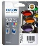 Epson Inkjet T040 T041 und C62 CX3200 Tintenpatronen-Doppelpack, für Photo Stylus Drucker, Schwarz/ Cyan Magenta Gelb (Inkjet Epson Drucker)