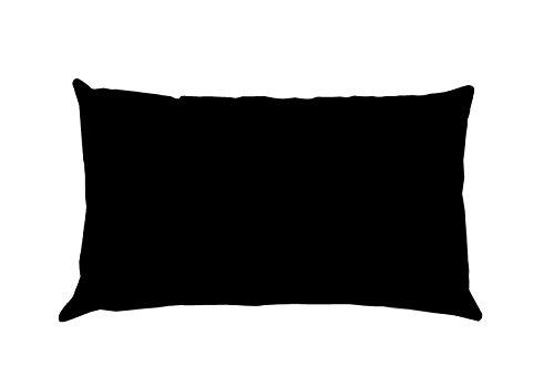 Lovely Casa Alicia T24820015 - Funda de Almohada Medidas: 50 x 70 cm, algodón, Color Negro