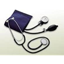 Valuemed aneroide Clinical Sphygmomanometer &-Stetoscopio con testa singola medical (Sfigmomanometro Adulti Lattice)