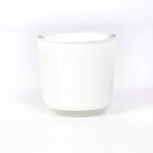 INNA-Glas Bougeoir - Photophore en Verre Nick, Blanc, 8cm, Ø 8cm - Photophore Rond - Mini Vase