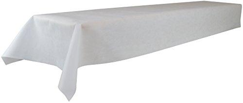 Öko-Tex 100, abwaschbar, (Farbe + Größe wählbar), weiß, 1m x 2,5m, Bierzeltgarnitur, Tischtuch, Tischwäsche, stoffähnliches Vlies, Party, Catering, Vereinsfeier, Geburtstagsfeier (Weiße Tischdecke)