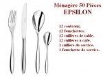 Ménagère 50 pièces Epsilon, Couzon