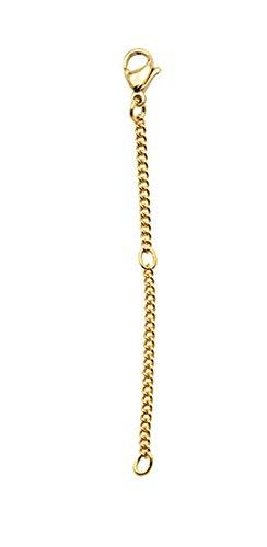 Verlängerungkette Verlängerungskettchen Kette Sicherheitskette Armband 8 cm lang (Gold Farbe)