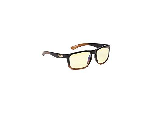 Gunnar Gaming- und Computerbrillen/Intercept, bernsteinfarbene Tönung - patentierte Linse, reduziert die Belastung der Augen und blockiert 65% des schädlichen blauen Lichtes