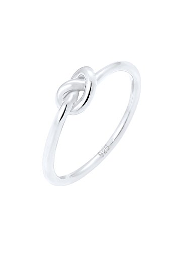 Elli Damen-Ring Trend Knoten Trend Blogger Verschlungen silber 925 Gr. 54 (17.2) 0609371316_54