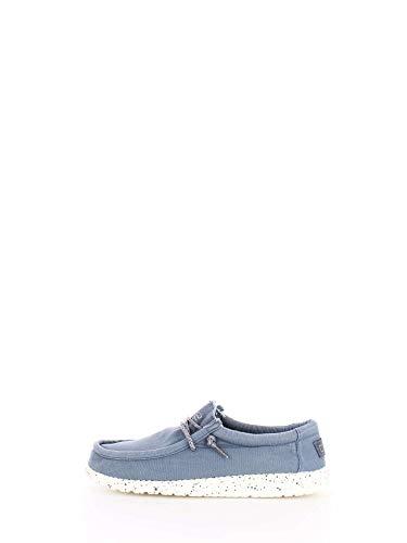 Dude Shoes Männer Wally Gewaschen Stahl Blau UK11/EU45 - Leder-optionen-beenden
