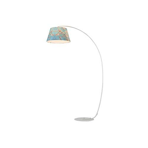 nschirm schmiedeeisen basis stehleuchte mit e27 lampe metall lamm rack für wohnzimmer vertikale leselampe 0717LDD ()