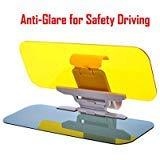 Car Sun Visor-UV Sun Protection Sheild & Ombra per le automobili, Durable Anti Glare, Anti-abbagliamento, Clip-on Auto Car Visiera Specchio Sun Shield