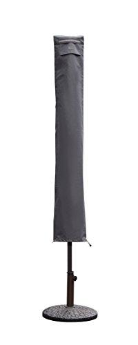 Sekey Schutzhülle für Sonnenschirm, Abdeckhauben für Sonnenschirm, grau (136×23,5/25 cm)