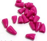 Qiao Niuniu New 20Pcs/Lot Colorful Soft Pet Dog Cats Kitten Paw Claws Control Nail Caps Cover #apowu522# (color: Red… 2