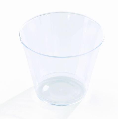 ück Einweg Dessertglas aus Plastik   Robustes Einweggeschirr in hochwertiger Qualität   transparent glasklar 230 ml ()