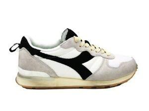 Diadora sneakers camaro used bianco nero grigio 174765-c0351 (42 - bianco)