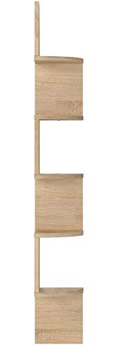 COMIFORT Étagère d'angle - Bibliothèque d'angle Scandinave, Moderne et Minimaliste, avec 5 Tablettes Robustes et Résistantes, Chêne Sonoma