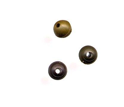 KordaGummiperlen 4mm Rubber Bead Muddy Brown 25 Stück