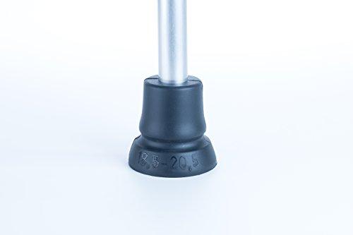 Krückenkapsel Antirutsch Gummipuffer Gehhilfenfuß passend für Gehstützen Gehstöcke mit Rohrdurchmesser von 18,5 - 20,5 mm Test