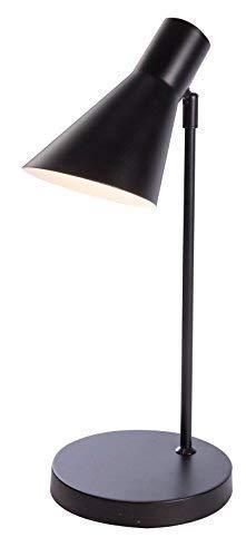 Luminaire Project, lampe de bureau métal, 25 W, noir, L L 18 x H 46 cm