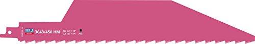 Wilpu Säbelsägeblatt 3043/450 H-HM für Gasbeton, Bims, weicher Ziegel, Faserzement, Gartenflorsteine, Heraklith