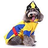 King Swell Halloween-Kostüm Wolverine für Hunde und Katzen, lustiges Haustier Cosplay Kaltes Wetter Mäntel Kleidung Herbst Jumpsuit, XL